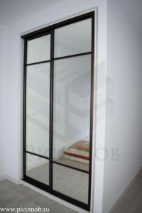 Mobila dressing dormitor PicoMob usi glisante cu oglinda a door hafele dormitor mic