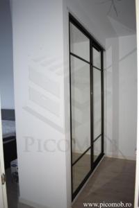 Mobila dressing dormitor PicoMob usi glisante cu oglinda a door hafele