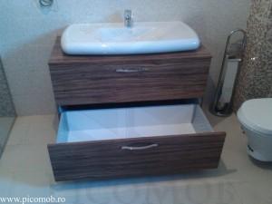 PicoMobilier Baie MDF Maslin Tandem extragere totala rezistent la umezeala util in orice baie